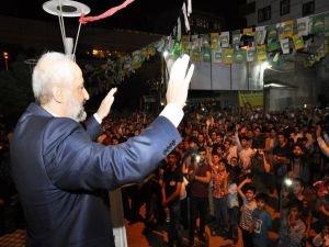 Aydın Gök'ün seçim lokali açıldı