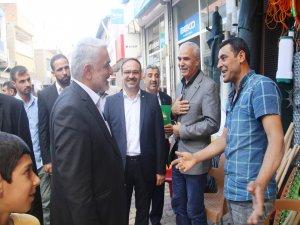 Yapıcıoğlu Ergani esnafını ziyaret etti