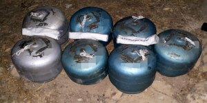 Bir evde 2 ton patlayıcı bulundu