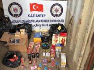 Gaziantep'te kaçakçılık operasyonu: 9 gözaltı
