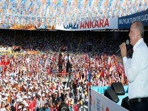 Erdoğan: 15 Temmuz gecesi Ankara'nın tam bir destan yazdı