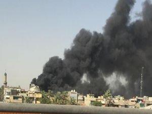 Irak'ta seçim sandıkları deposu yandı