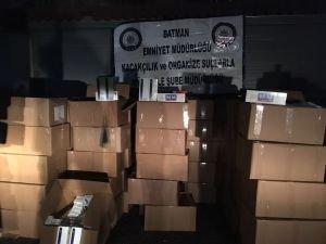 Batman'da 134 bin paket kaçak sigara yakalandı!