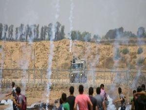 """Gazze'deki """"Yaralılara Vefa Cuması""""nda 200 kişi yaralandı"""