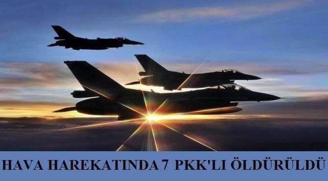 Asos bölgesinde 7 PKK'lı öldürüldü
