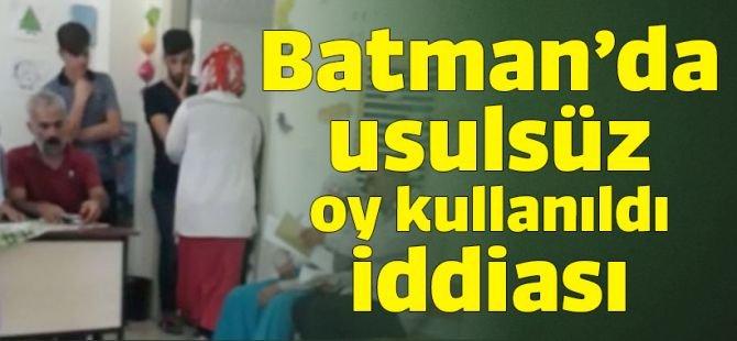 Batman'da usulsüz oy kullanıldı iddiası