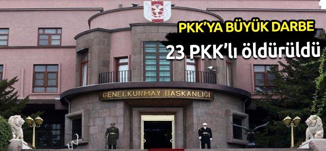 23 PKK'lı öldürüldü!