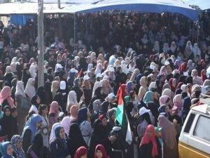 Kadınlar Filistin için yürüdü