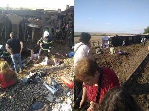 Tekirdağ'da yolcu vagonu devrildi: 10 ölü 73 yaralı