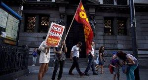 """Arjantin'de Obama'ya """"Obama Defol"""" sloganları"""