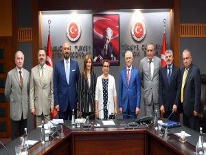 Ticaret Bakanına İlk Tebrik Ziyareti TMB yönetiminden