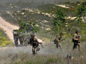 Ağaçta saklanan PKK'lı yakalandı
