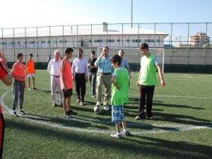 Kur'an kursu talebeleri arasında futbol müsabakası düzenlendi