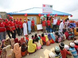 Kızılay'dan Arakanlı Müslümanlar için Bin barınma ünitesi
