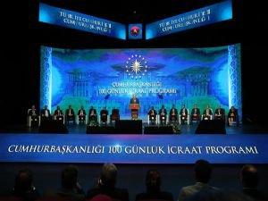 Cumhurbaşkanı Erdoğan, 100 günlük icraat programını açıkladı