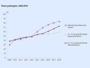 İnternet kullanan bireylerin oranı arttı