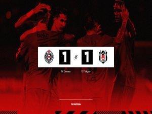 Beşiktaş avantajı kaptı: 1-1
