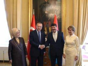 Cumhurbaşkanı Erdoğan, Macaristan Cumhurbaşkanlığı Sarayında