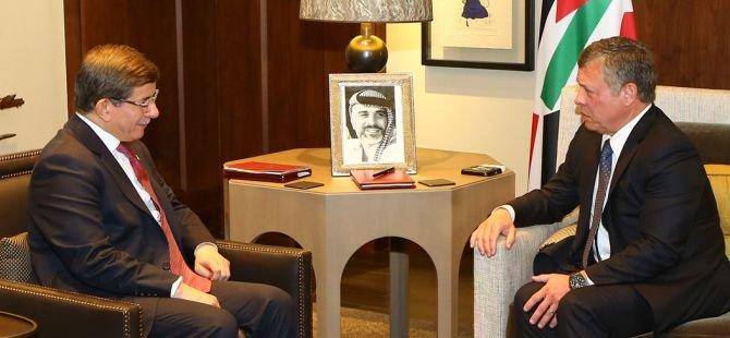 Başbakan Ahmet Davutoğlu, Ürdün Kralı ile görüştü