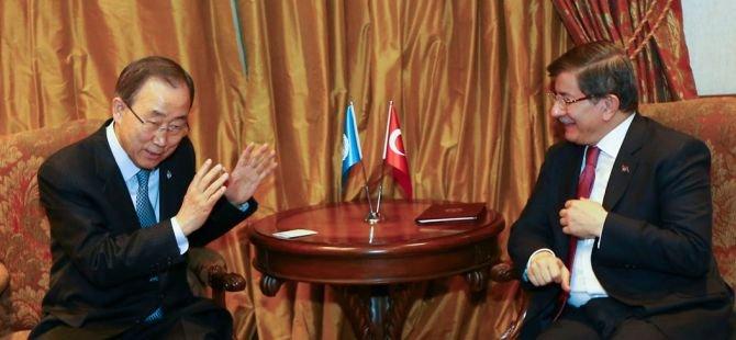 Başbakan Davutoğlu, BM Genel Sekreteri ile görüştü