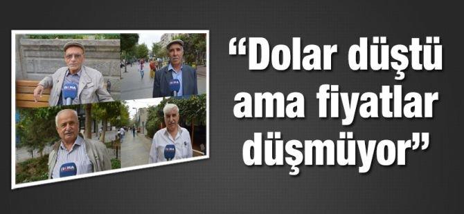 """Vatandaşlar soruyor: """"Dolar düştü ama fiyatlar düşmüyor"""""""
