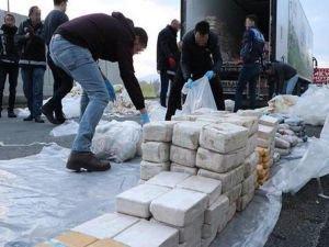 Durdurulan TIR'da bir tondan fazla eroin ele geçirildi