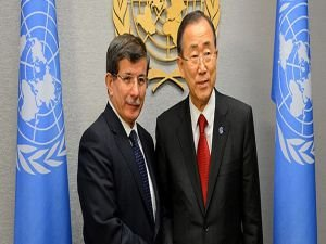 Başbakan Davutoğlu, BM Genel Sekreteri ile telefonda görüştü
