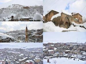 Bitlis'in kış manzarası göz kamaştırıyor