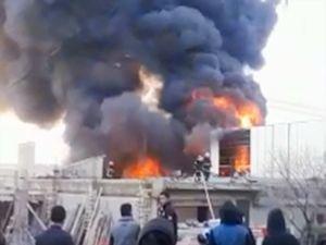 Gaziantep'te boya imalathanesinde yangın