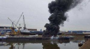 Tanker gemisinde patlama: 2 ölü