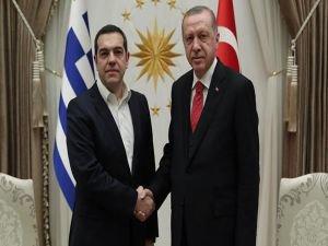 Cumhurbaşkanı Erdoğan, Çipras'ı kabul etti