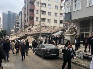 Kartal'daki çöken binanın enkazından bir genç kurtarıldı
