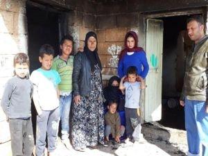 Evi yanan Suriyeli aile yardım bekliyor