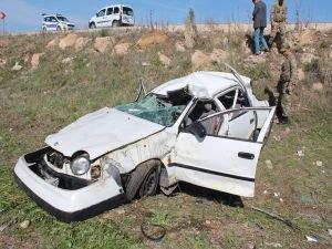 Kahta'da Otomobil takla attı