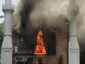 ABD'de kundaklanan cami büyük hasar gördü