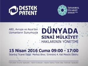 Dünya sanayi devlerinin patent danışmanları İstanbul'a geliyor