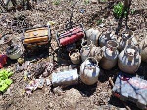 PKK operasyonunda mühimmat ve EYP yapımında kullanılan malzemeler ele geçirildi