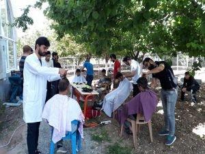 Kur'an kursunda ücretsiz tıraş hizmeti