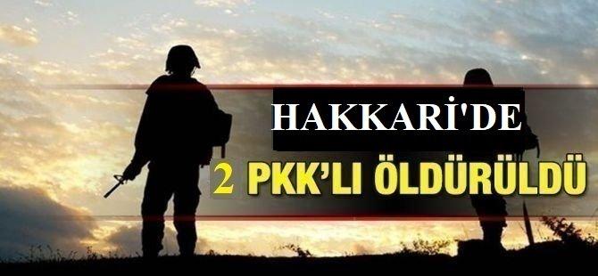 Hakkari'de çatışma: 2 PKK'lı öldürüldü