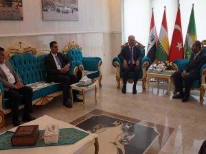 KDP'den HÜDA PAR Erbil Temsilciğine taziye ziyareti