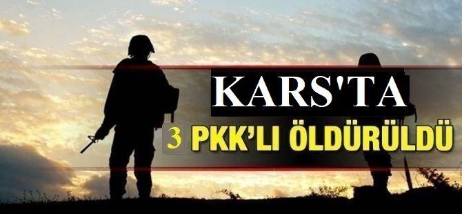 Kars'ta 3 PKK'lı öldürüldü