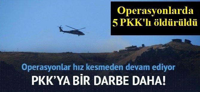 Hakurk bölgesinde 5 PKK'lı öldürüldü