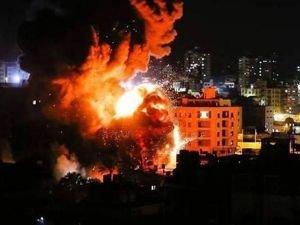 İşgalciler Gazze'ye hava saldırısı düzenledi