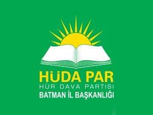 HÜDA PAR Batman Teşkilatından 'Üç Aylar' mesajı