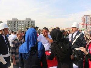 Muhammed bebek dualarla uğurlandı