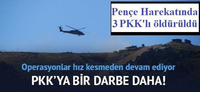 Pençe Kaplan Operasyonu'nda 3 PKK'lı öldürüldü