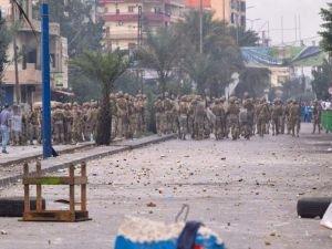 Ordu, protestoculara müdahale etti