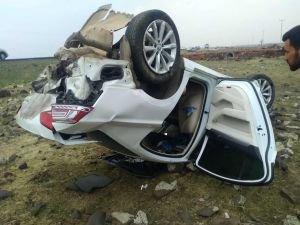 Araç şarampole girdi: 2 yaralı