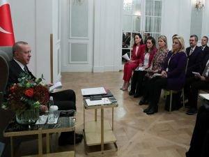 Cumhurbaşkanı Erdoğan, medya temsilcileriyle söyleşi gerçekleştirdi