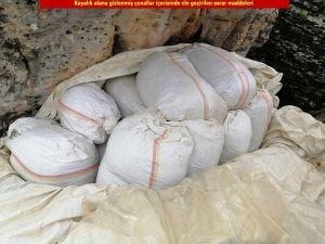 PKK operasyonunda bir ton esrar ele geçirildi